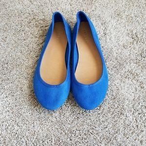 Size 8 Blue Flats
